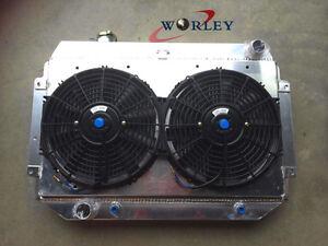 Aluminum Radiator for Holden HQ HK HX HZ Kingswood V8 71-80+ Shroud+ Thermo Fans