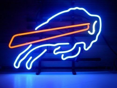 "Buffalo Bills Light Neon Sign Beer Bar Gift 14""x10"" Lamp"