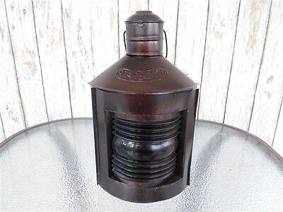 "12"" Metal Starboard Lantern ~ Ship Oil Lamp ~ Nautical Maritime ~ Boat Light"