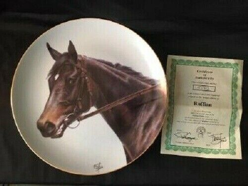 RUFFIAN THOROUGHBRED RACEHORSE HORSE PLATE by FRED STONE #5192