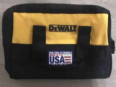 "DEWALT 13"" 6 Pocket Heavy Duty Nylon Canvas Contractor Tool Bag NEW USA"