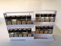 slide and swivel spice storage organizer