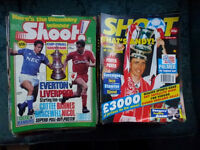 Shoot Football Magazine collection 1989 to 1995 with posters etc.