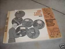 1986 Ford Thunderbird & Mercury Cougar Electrical Wiring ...