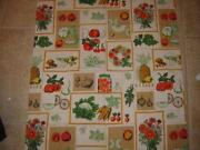 Vintage Vegetable Tablecloth