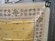 Yellow Linen Tablecloth