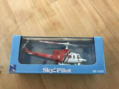 New SkyPilot DieCast Helicopter 1/115 Bell 412 LAFD Red