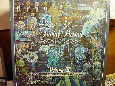 Trivial Pursuit A Genus Edition  Volume 2     1987   100  Complete Used Game