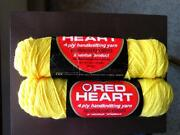 Red Heart Yellow Yarn