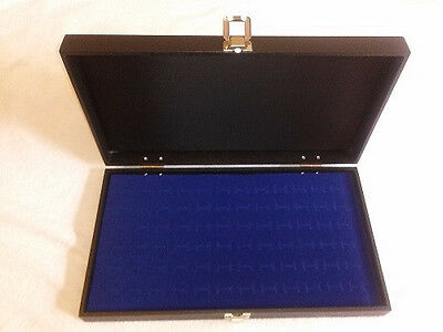 New 36 Pair Wood Top Blue Cufflinks Display Case Storage Boxe