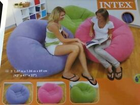 Intex Inflatable Chair. New and boxed. Lilac colour.
