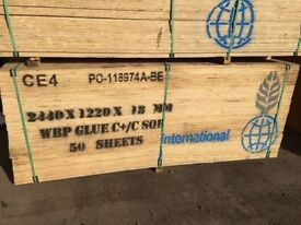 WBP Plywood Sheet 18mm 2440 x 1220 ( 8ft x 4 Ft)