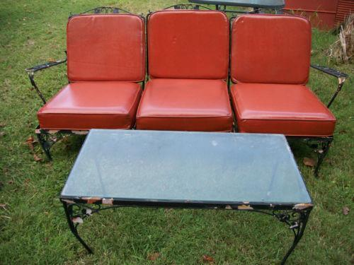 Vintage Wrought Iron Patio Furniture EBay