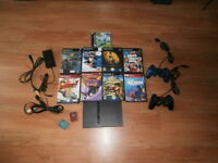 Sony Playstation 2 PS2 slim console bundle Controller cables SCP