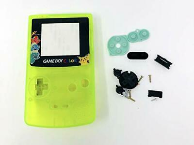 GBC Nintendo Game Boy Color Replacement Housing Shell Screen GITD Pokemon Yellow