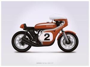 Honda Motorcycle Poster