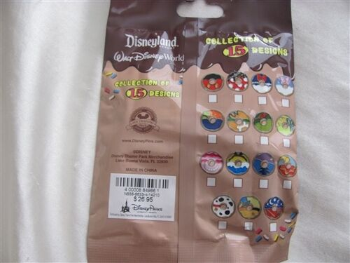 Disney Trading Pins 106581 Mickey Mouse and Friends Donut Mystery Mini-Pin Pack