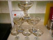 6 Babycham Glasses