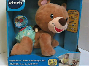 Explore and Crawl Learning Cube Interactive Bear