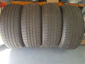 A nearly new fantastic condition set of 4 275x40x22 Continental Winter tyres