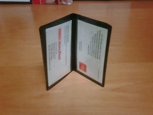 Lot of 10 - Business & Credit Card Thin Vinyl Waller Holder Folio ATM Case