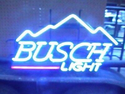 """New Busch Beer Light Mountain Bar Neon Sign 17""""x14"""""""