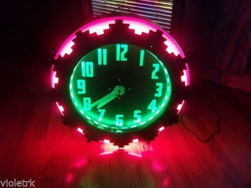 Vintage Neon Clock Ebay