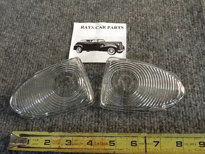 NEW PAIR OF REPLACEMENT 1951 51 CHEVROLET FRONT PARK LIGHT LENS COVERS !