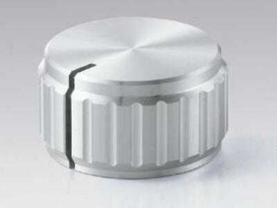 Sato Parts K-32 6.0mm Shaft Ridged Aluminum Knob With Indicator Line
