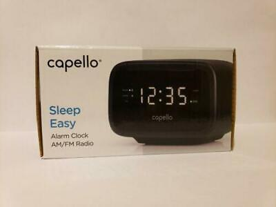 Capello Sleep Easy Digital Alarm Clock with AM/FM Radio Black CR15