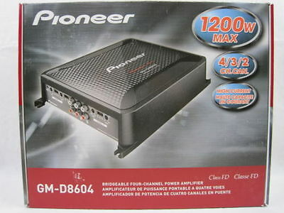 NEW Pioneer GM-D8604 600W RMS Class FD 4-Channel GM Digital Series Car Amp
