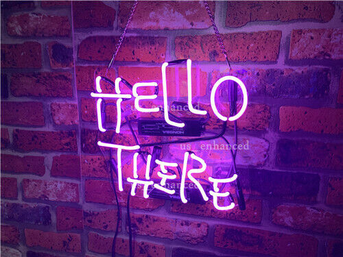 "Hello There Hell Here Switch on/off For ""O"" And ""T"" Acrylic Neon Sign 20"""