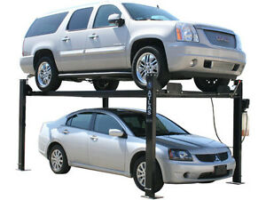Atlas Garage Pro 8000 - Portable Vehicle 4 Post Storage Lift Car Truck Hoist