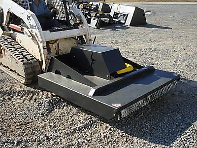 New Usa 5 60 Skid Steer Loader Brush Rotary Cutter Bush Field Mower Bobcatcat