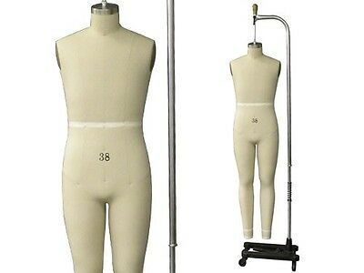 Professional Pro Male Full Size 38 Working Dress Form Mannequin Malefullsize38