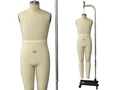 Professional Pro Male Full Size 38 Working Dress Form Mannequin Malefullsize38