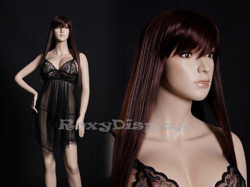 Sexy Female Fiberglass Mannequin with beautiful makeup Dress Form #MZ-Jennifer