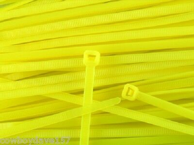 """Used, Cable Ties Yellow 7.5"""" Nylon Tie  Bundle Tie Zip Tie Cable Tie  100  Pack  for sale  Shipping to India"""