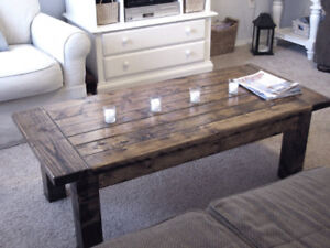 New Classic Coffee Table - Sturdy - Rustic - Wood - Delivery Ava