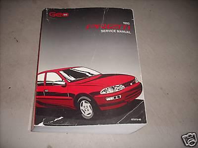 1993 Chevrolet Chevy Geo Prizm Service Shop Manual Oem