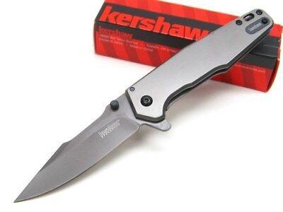 KERSHAW Titanium Carbo-Nitride ASSISTED FERRITE Straight Folding Knife! 1557TI