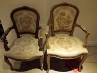 A Pair of Vintage Chairs, Ideal For Upholstery Project
