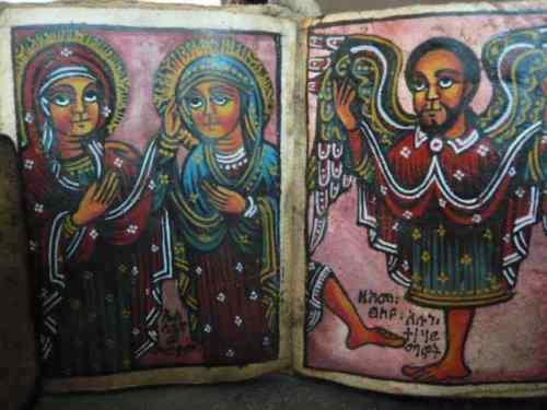 Single Antique Bible Coptic Manuscript Coptic Bible