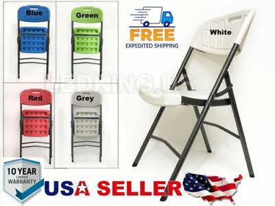 New Indoor Outdoor Folding Plastic Utility chair Metal Frame Tall Back (Back Plastic Folding Chair)