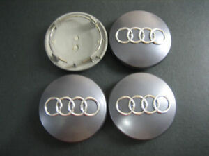 Brand New AUDI SET OF 4 Wheel Center Hub Caps 60mm 69mm