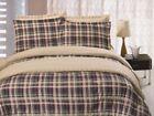 Microfiber Plaid Comforters & Bedding Sets Full/Queen