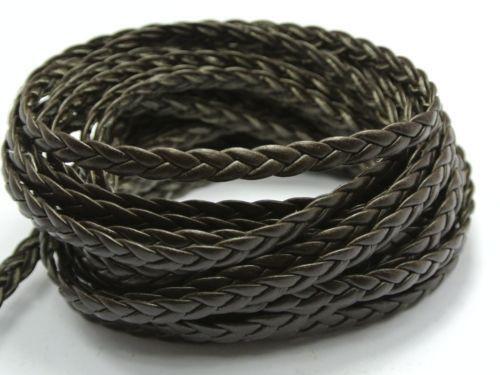 1 4 Flat Braid Wire Untinned : Flat braided leather cord ebay
