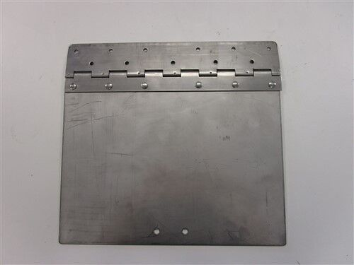 """TRIM TAB PLATE WITH HINGE STAINLESS STEEL 12"""" X 11 1/8"""" MARINE BOAT"""