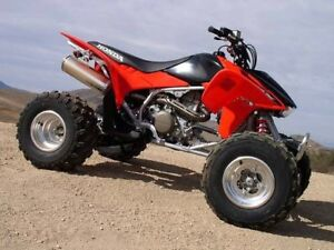 Buying blown up dirt bikes and quads!