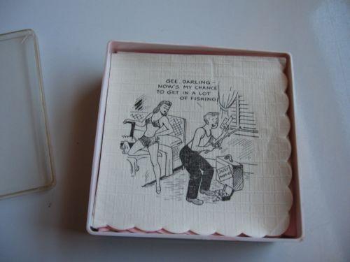 Vintage Paper Cocktail Napkins Ebay
